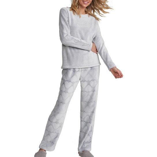 Pijama Feminino Cor Com Amor - Cinza Claro