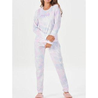 Pijama Feminino Longo Espaço Pijama
