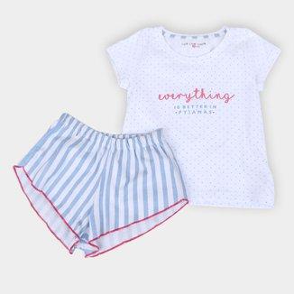 Pijama Infantil Cor com Amor Short Doll Feminino