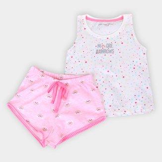 Pijama Infantil Cor com Amor  Short Doll Regata Feminino