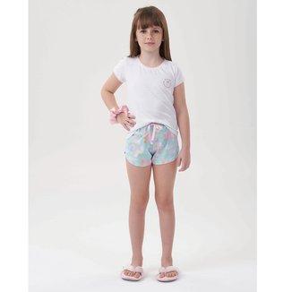 Pijama Infantil Cor Com Amor Shorts Doll Sorvetinho Feminino