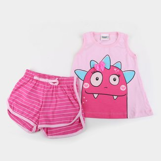 Pijama Infantil Duzizo Dino Brilha no Escuro Feminino