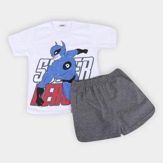 Pijama Infantil Duzizo Herói Brilha no Escuro Masculino