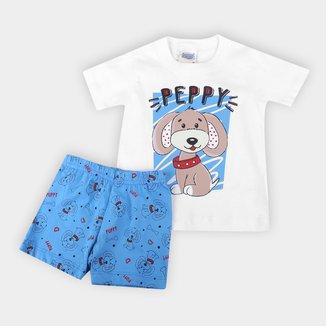 Pijama Infantil Duzizo Peppy Brilha no Escuro Bebê