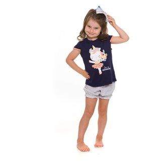 Pijama Infantil Evanilda Ballericorn Feminino