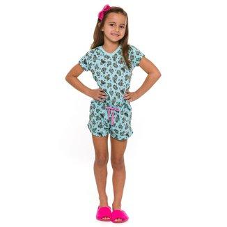Pijama Infantil Evanilda Coalas Feminino