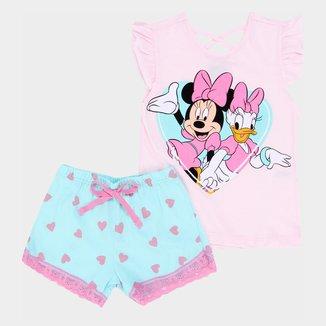 Pijama Infantil Evanilda Disney Minnie e Margarida Feminino