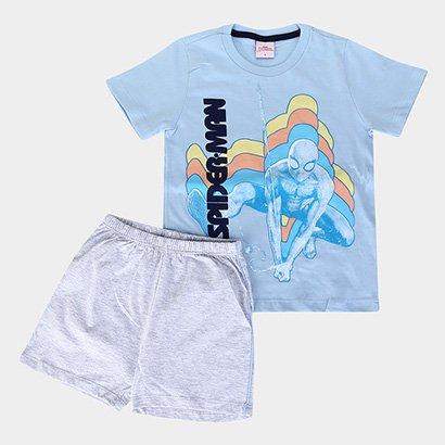 Pijama Infantil Evanilda Homem Aranha Masculino