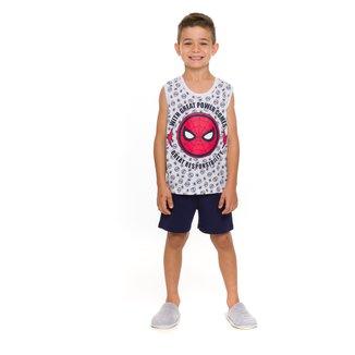 Pijama Infantil Evanilda Marvel Homem-Aranha Masculino