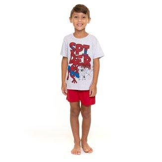 Pijama Infantil Evanilda Spiderman Marvel Masculino