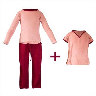 Pijama Infantil Gummi Sanne 3 peças Feminina