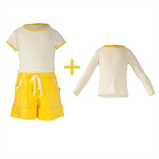 Pijama Infantil Gummi Tinna 3 peças Feminina