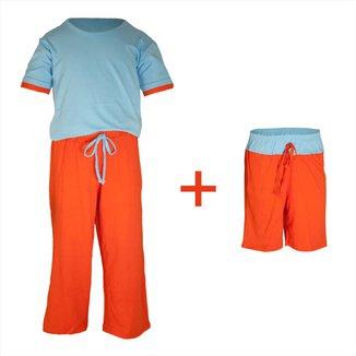Pijama Infantil Gummi Toke 3 peças Masculino