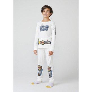 Pijama Infantil Hering em Ribana Masculino