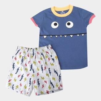 Pijama Infantil Hering Monster Masculino