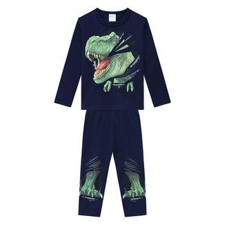 Pijama Infantil Kyly Brilha no Escuro Longo