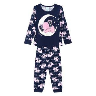 Pijama Infantil Kyly Elefante Brilha No Escuro Feminino