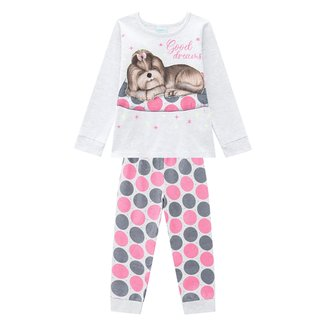 Pijama Infantil Kyly Good Dreams Brilha No Escuro Feminino