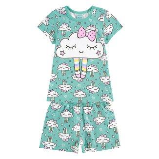 Pijama Infantil Kyly Nuvem Brilho no Escuro Feminino