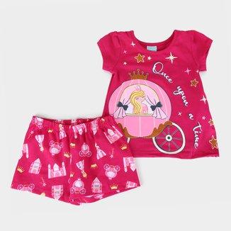 Pijama Infantil Kyly Princesa Brilha no Escuro Feminino