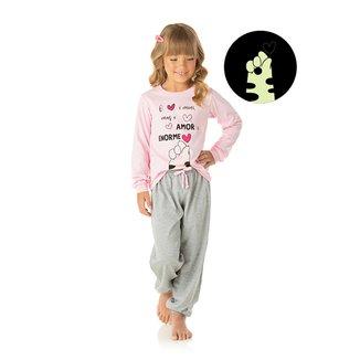 Pijama Infantil Longo Duzizo Estampado Brilha no Escuro