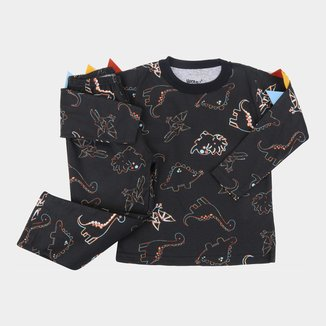 Pijama Infantil Longo Elian Dino Masculino