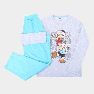 Pijama Infantil Longo Evanilda Turma da Mônica