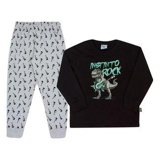 Pijama Infantil Longo Pulla Bulla Dino Rock Masculino