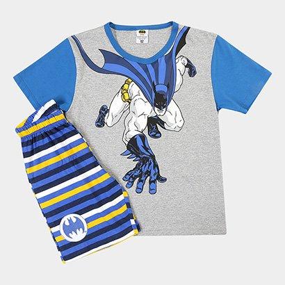 Pijama Infantil Lupo Curto Batman Masculino - Masculino