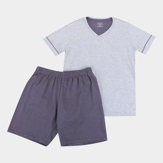 Pijama Infantil  Lupo Curto Liso Básico Masculino