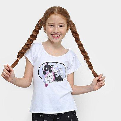 Pijama Infantil Lupo Eureka Curto Feminino - Feminino