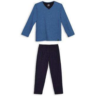 Pijama Infantil Lupo Longo Básico Liso Masculino