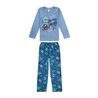 Pijama Infantil Monstrinhos Malwee Liberta Malwee Liberta Masculino