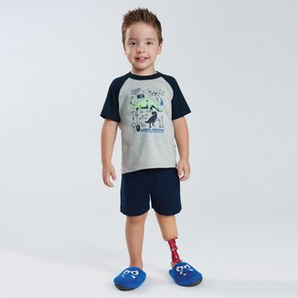 Pijama Infantil Pulla Bulla Malha Dinossauros Masculino