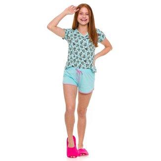 Pijama Juvenil Evanilda Coalas Feminino