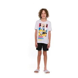 Pijama Juvenil Evanilda Disney Amigos do Mickey Masculino