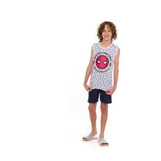 Pijama Juvenil Evanilda Homem-Aranha Masculino