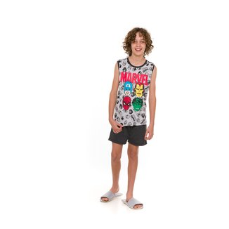 Pijama Juvenil Evanilda Marvel Vingadores Masculino