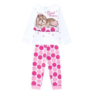 Pijama Juvenil Kyly Good Dreams Brilha No Escuro Feminino