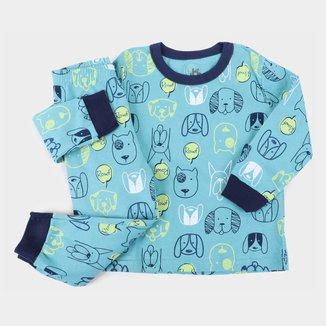 Pijama Longo Bebê Brandili Estampado Masculino