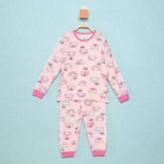 Pijama Longo Infantil Brandili Estampado Feminino