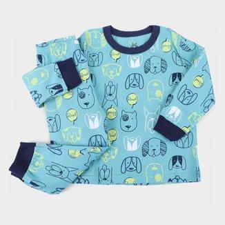 Pijama Longo Infantil Brandili Estampado Masculino
