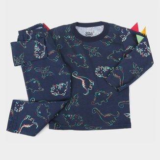 Pijama Longo Infantil Elian Dino Masculino