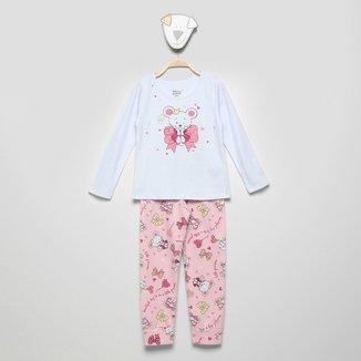 Pijama Longo Infantil Elian Estampado Feminino