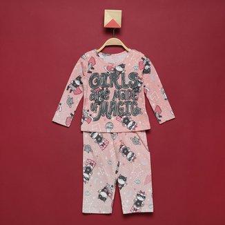 Pijama Longo Infantil Elian Girls Are Made Off Magic Feminino