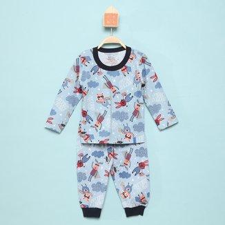 Pijama Longo Infantil Elian Mask Brilha No Escuro Masculino