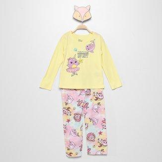 Pijama Longo Infantil Elian Mermaids Off Duty Feminino