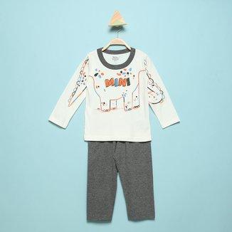 Pijama Longo Infantil Elian Mini Dino Masculino