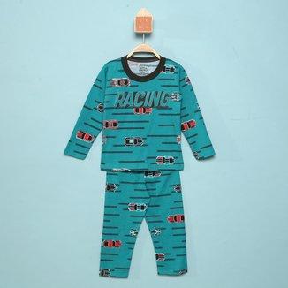 Pijama Longo Infantil Elian Racing Masculino