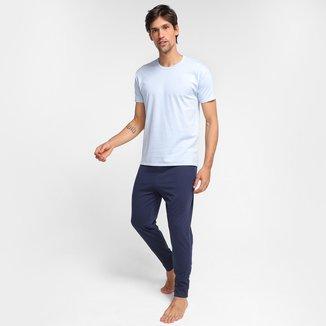 Pijama Longo Malwee Liso Masculino